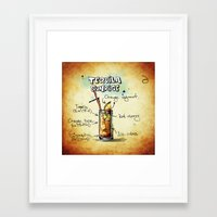 tequila Framed Art Prints featuring Tequila Sunrise by jamfoto