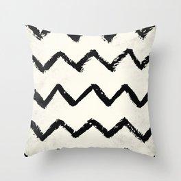 ZigZag Stripes on Ivory Throw Pillow