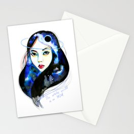 The whole world Stationery Cards