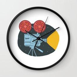 Tomato cinema Wall Clock