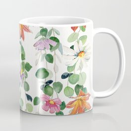 Flowers and Eucalyptus Garland Coffee Mug