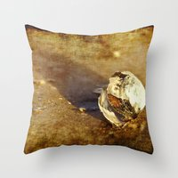seashell Throw Pillows featuring Seashell by Svetlana Sewell