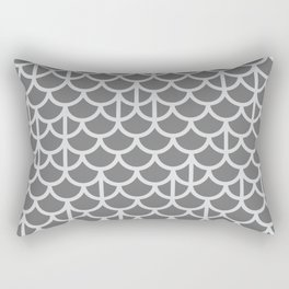 Strict Mermaid Scales Grey Rectangular Pillow