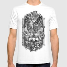 Reredos White X-LARGE Mens Fitted Tee
