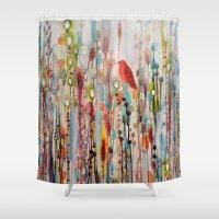 la Shower Curtains featuring la vie comme un passage by sylvie demers