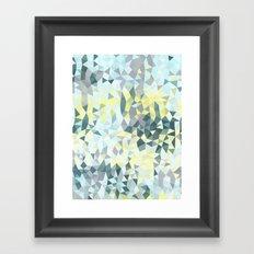 Spring Rain Tris Framed Art Print