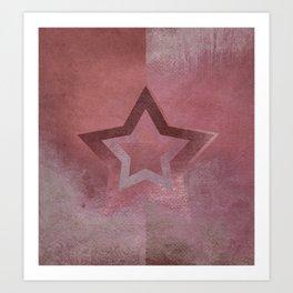 Suprematist Star VI Art Print