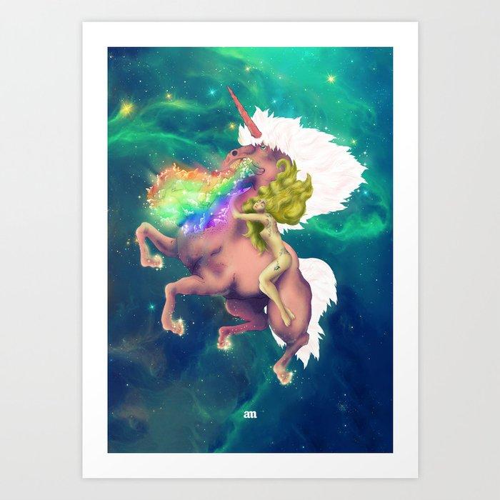 Space Laserhorse Art Print