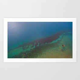 Lake Hawea lake wakatipo blue crystal clear panorama blue vertical_ Art Print