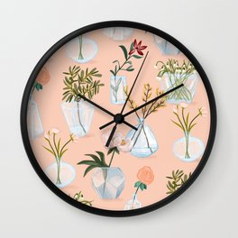 Floral Vases Wall Clock
