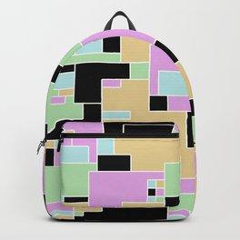 Pastel Geometric Pattern Backpack