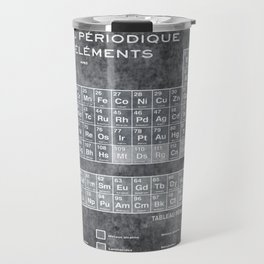 Tableau Periodiques Periodic Table Of The Elements Vintage Chart Silver Travel Mug