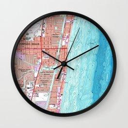 Vintage Map of Pompano Beach Florida (1962) Wall Clock