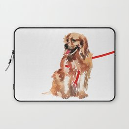 watercolor dog vol 17 golden retriever Laptop Sleeve