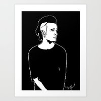 matty healy Art Prints featuring Matty. by Spazy Art