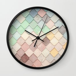 Cute Rainbow Scales Wall Clock