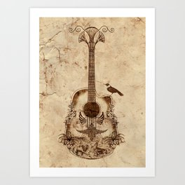 The Guitar's Song Art Print