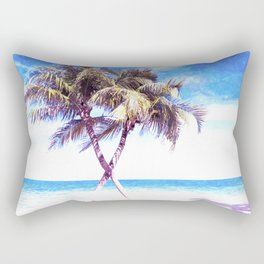 Palm Tree Beach Rectangular Pillow