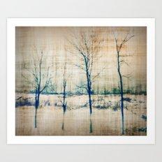 4 Trees  Art Print