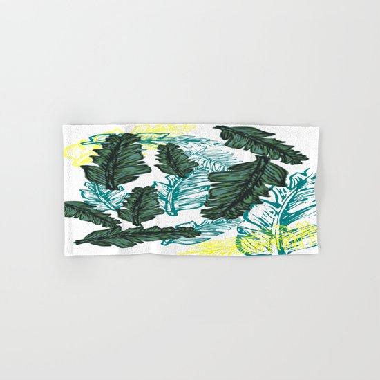 leaf mix1 Hand & Bath Towel
