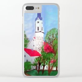 Kirche von Ergolding Clear iPhone Case