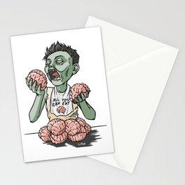 Zom-nom-nom-bie Stationery Cards