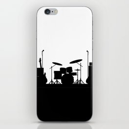 Rock Band Equipment Silhouette iPhone Skin