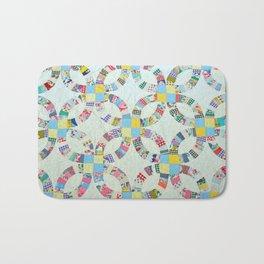 Colorful quilt pattern Bath Mat