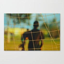 Soccer net Canvas Print