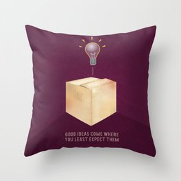 Good ideas – purple Throw Pillow