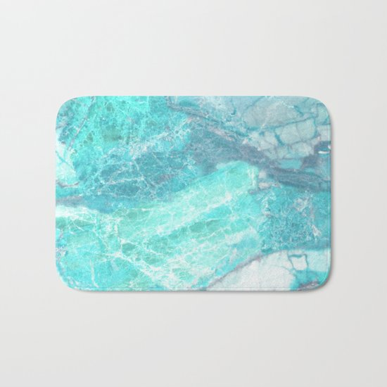 Marble Turquoise Blue Agate Bath Mat