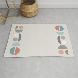 Smiling faces in an abstract cloak #127 Rug