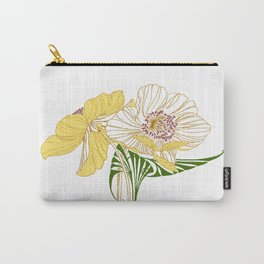 Art Nouveau Poppy Duet by Seasons K Designs Carry-All Pouch