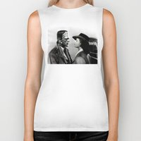 casablanca Biker Tanks featuring FRANKENSTEIN IN CASABLANCA by Luigi Tarini