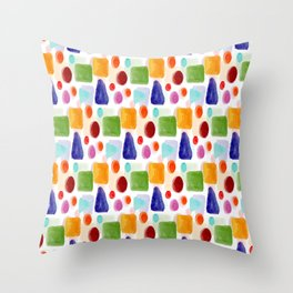 Painted Pattern Throw Pillow