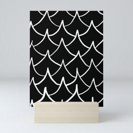 Dark Fish Waves Mini Art Print