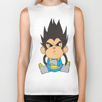 vegeta Biker Tanks featuring Monkey Vegeta by Kame Nico