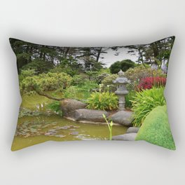 Japanese Garden Lantern Rectangular Pillow