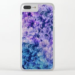 Hibiscus Flower Pattern Clear iPhone Case