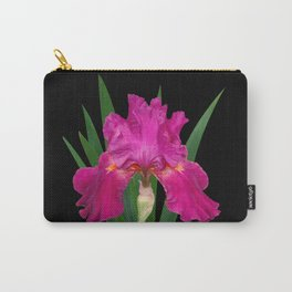 Iris 'Picante' on black Carry-All Pouch