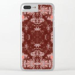 Living Coral Shibori Tye Dye Clear iPhone Case