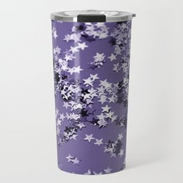 Ultra Violet Glitter Stars #1 #shiny #decor #art #society6 Travel Mug