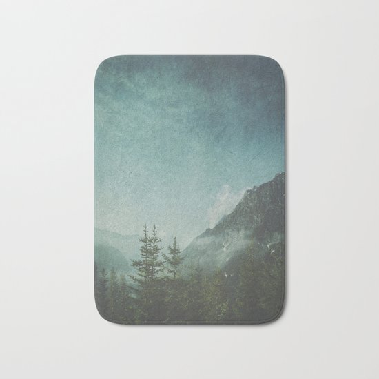 Misty Wilderness - Italian Alps Bath Mat