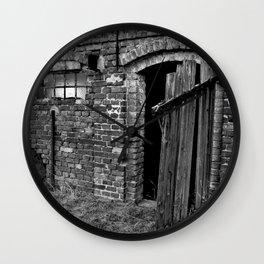 Old abandoned barn Wall Clock
