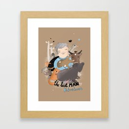 The Last Man in Fukushima Framed Art Print