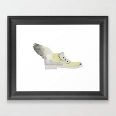 Flying shoe Framed Art Print