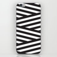 stripes iPhone & iPod Skins featuring Stripes by Dizzy Moments