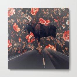 Frolal moose Metal Print