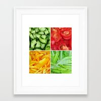 vegetable Framed Art Prints featuring vegetable by tony tudor