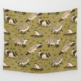 American Badgers Wall Tapestry